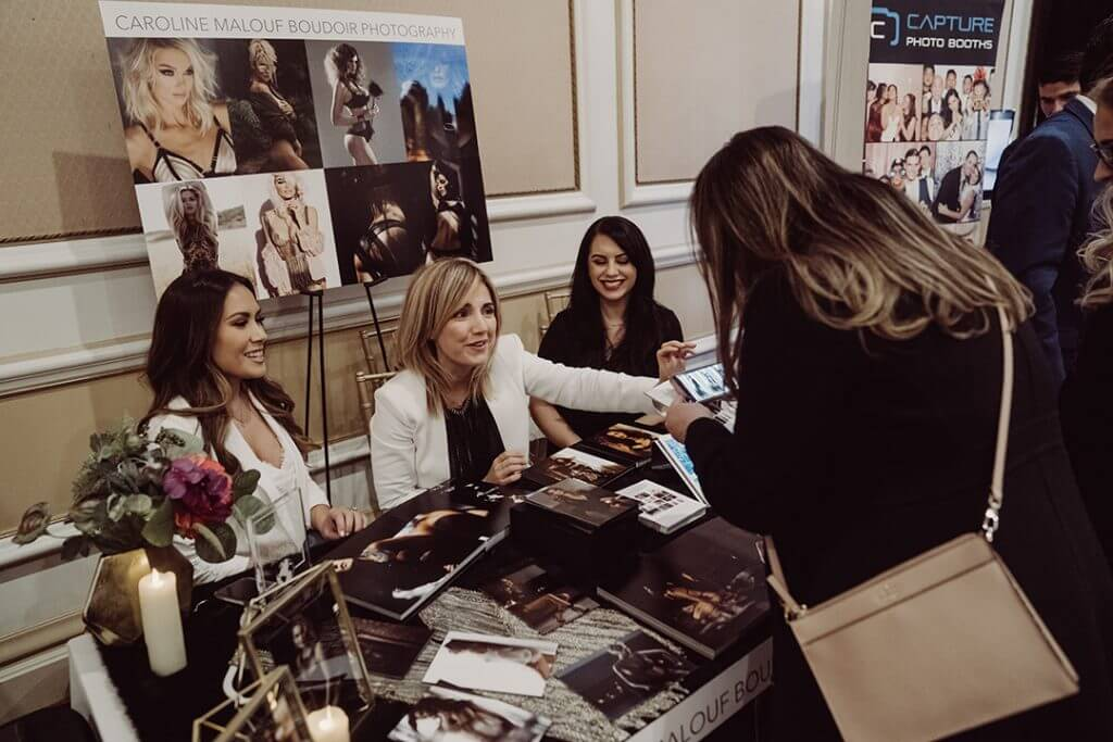 Caroline Malouf Photography at bridal expo