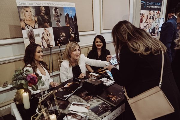 Caroline Malouf Photography at bridal expo